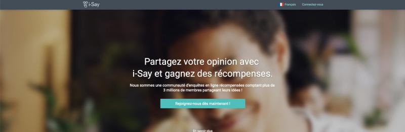 Ipsos I- Say sondage rémunérés : Avis et présentation du site