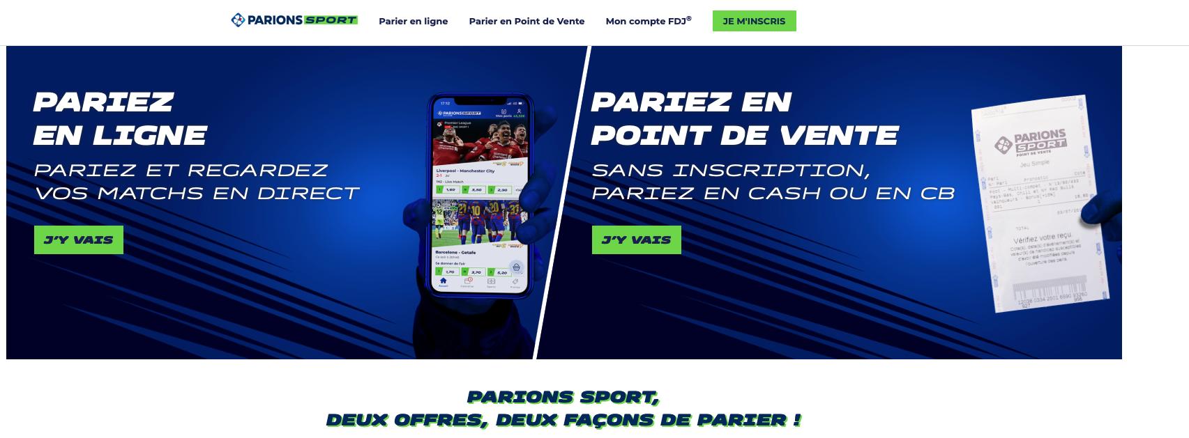 Parions Sport : avis et présentation du site de paris sportif