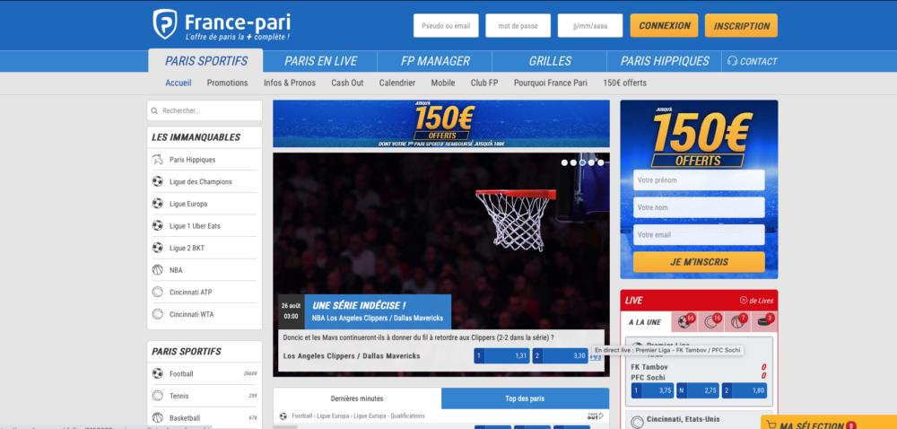France pari : avis, bonus et présentation du site